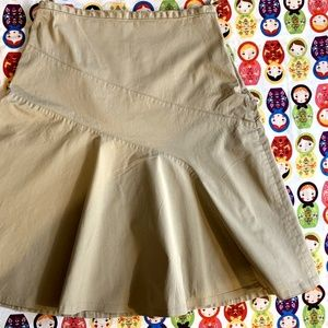Khaki GAPstretch Skirt